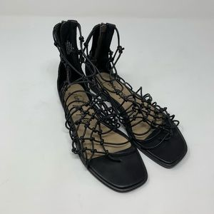 Free People Black Caged Sandals